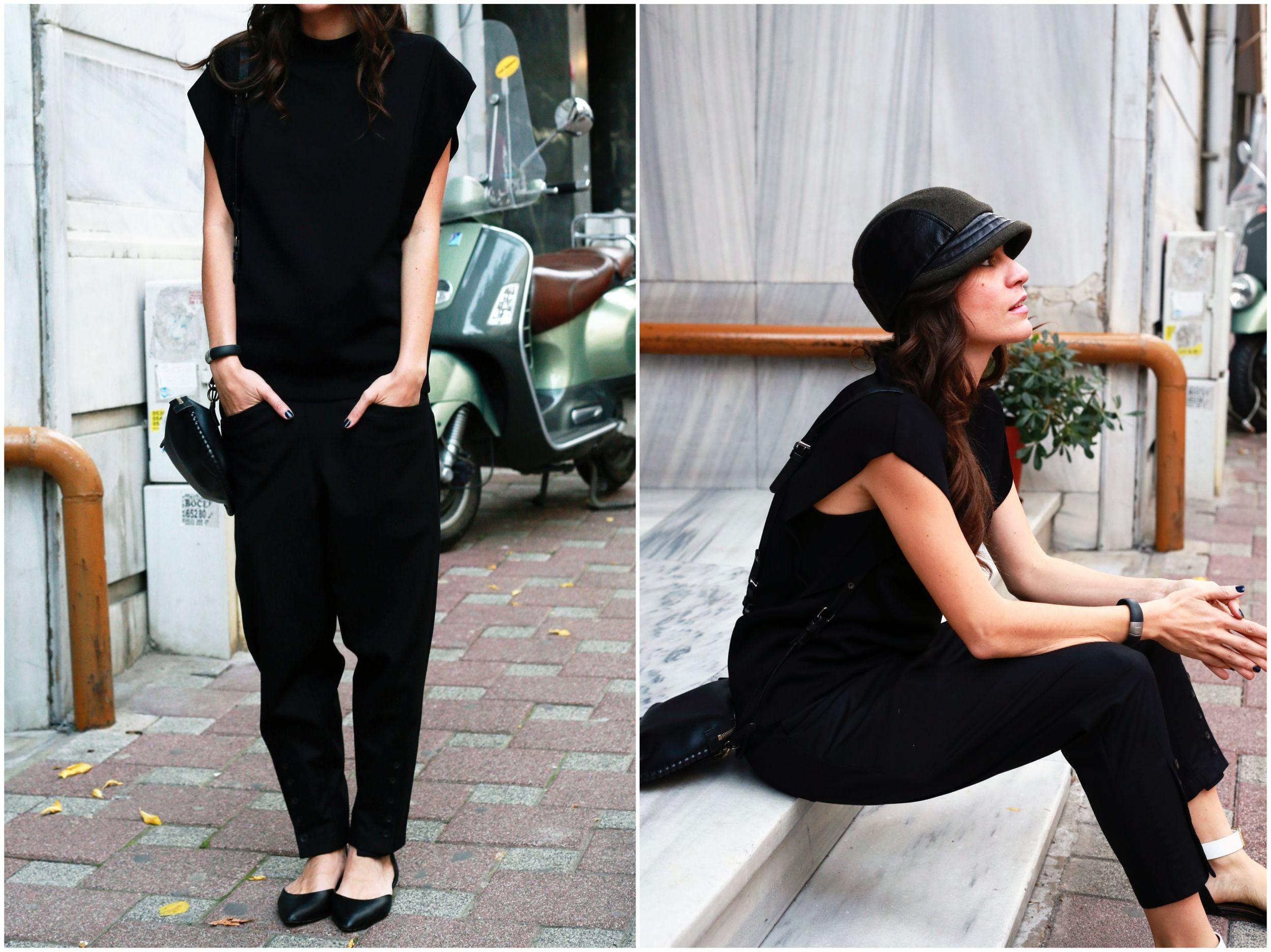 cos, cos stores, black, cap, outfit, street style, ümit ünal, marni, off ne giysem, barney's, ny, jacqueline lamont,