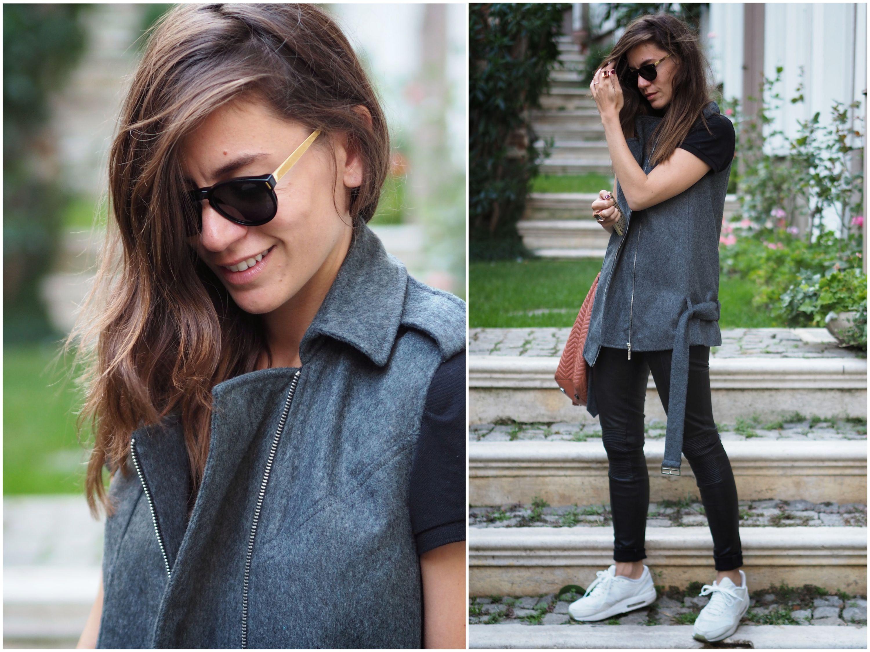 nike, off ne giysem, street style, billur saatci, mija, mymija, super sunglasses, misela, tommy hilfiger