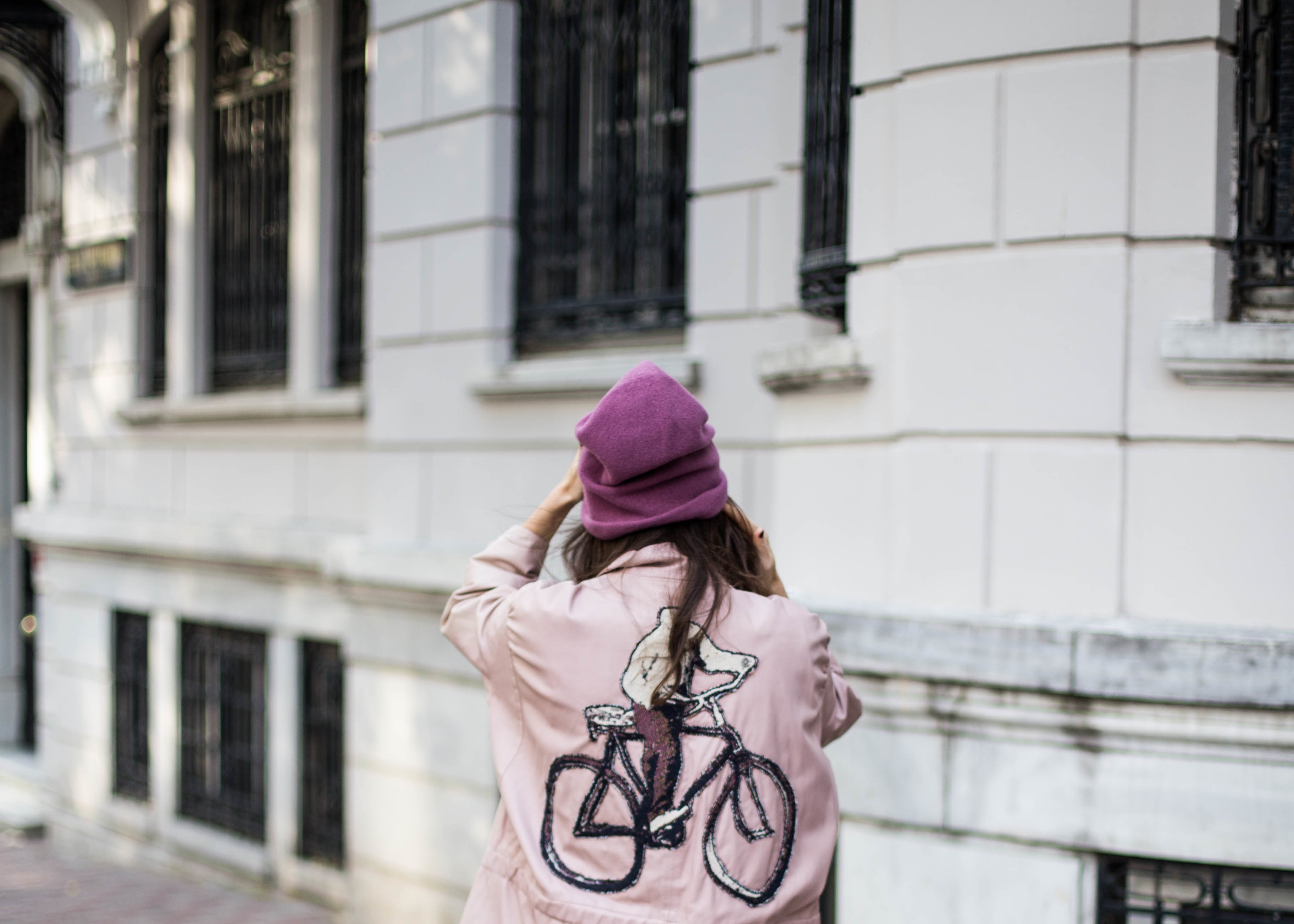 billur saatci, offnegiysem, turkish style blogger, street style, fashion, ootd, blogger, istanbul, bashaques, pink, leather jacket, rayban, zespa aix-en-provence