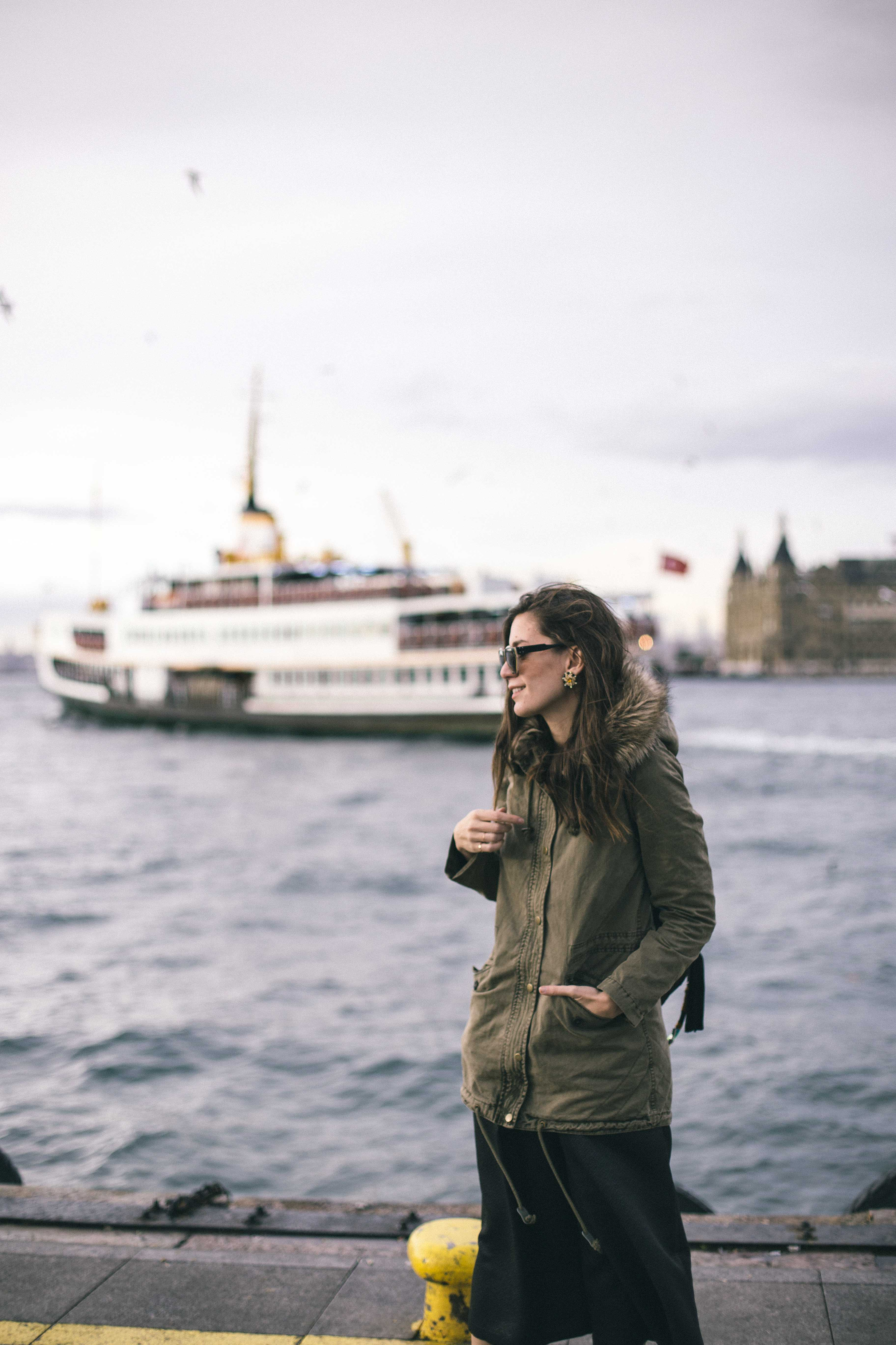 billur saatci, offnegiysem, turkish style blogger, street style, fashion, ootd, blogger, istanbul, mavi, mavi jeans, parka, kadıköy vapuru,