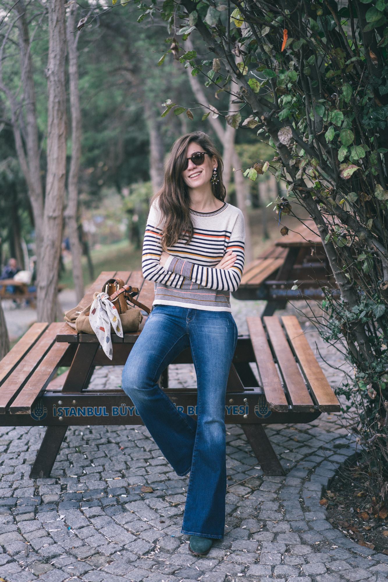 billur saatci, offnegiysem, turkish style blogger, street style, fashion, ootd, blogger, istanbul, mavi, mavi gold, boho, ilovemavi, bohemian style, flare, ispanyol paça,
