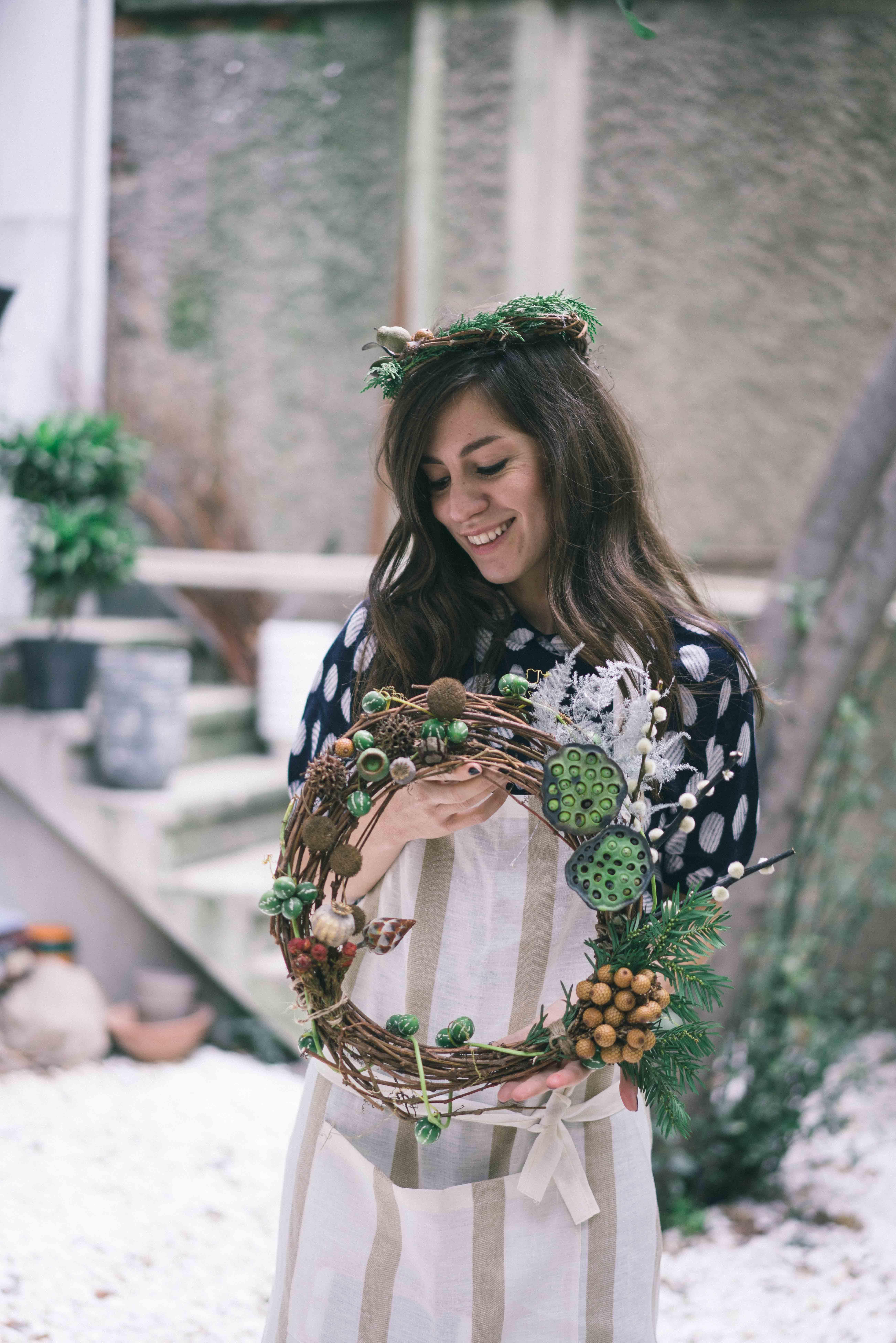 billur saatci, offnegiysem, turkish style blogger, street style, fashion, ootd, blogger, istanbul, vesaire, vesaire atölye, cos, çiçek atölyesi, çelenk , yılbaş çelengi, yıeni yıl çelenk, yılbaşı süsü,