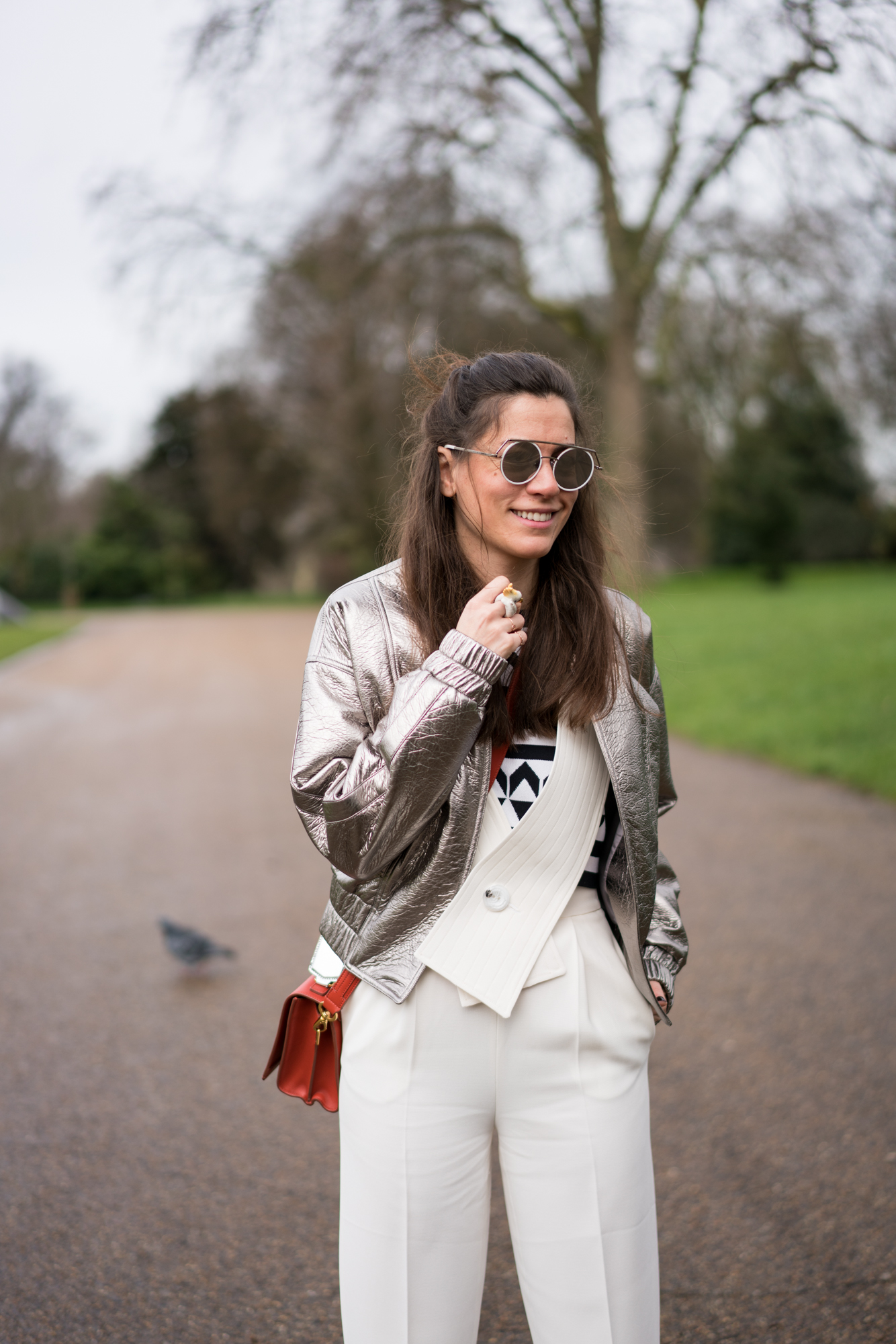 lfw, street style, london fashion week, sunglass hut, style, fashion, turkish style blogger, billur saatci, off ne giysem, mybestfriends, jumpsuit, bomber jacket, dun, house of holland, wise and ope, turkish style blogger, burberry, after burberry show, before burberry show