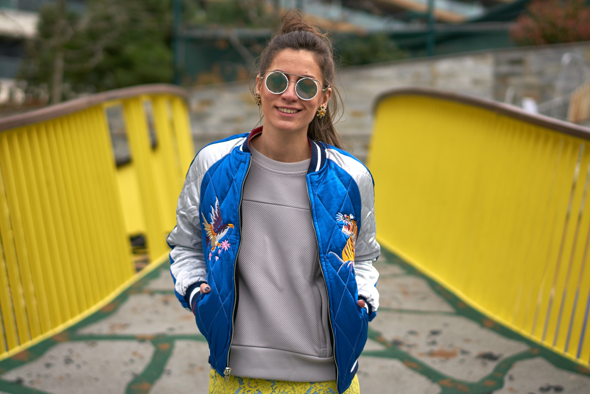 billur saatci, street style, mbfwi, off ne giysem, turkish style blogger, mercedes benz fashion week istanbul, nike airmax, topshop, bomber jacket, section mode unique, hakan yıldırım, preen by thornton bregazzi, house of holland