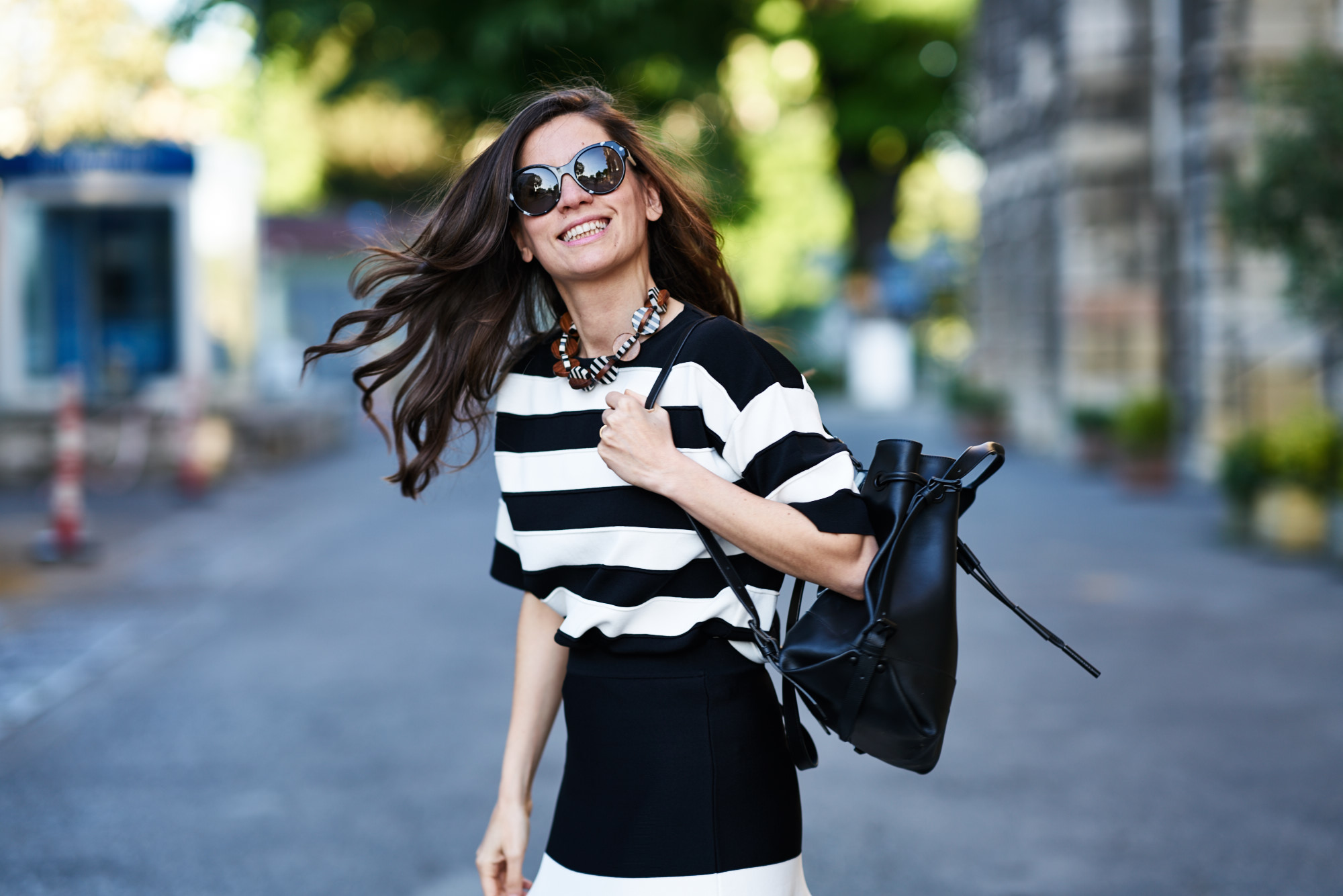 billur saatci, offnegiysem, street style, turkish style blogger, bw, stripes, black and white, opening ceremony, phillip lim, miu miu, house of camellia, black pepper, boyner, boyner fresh