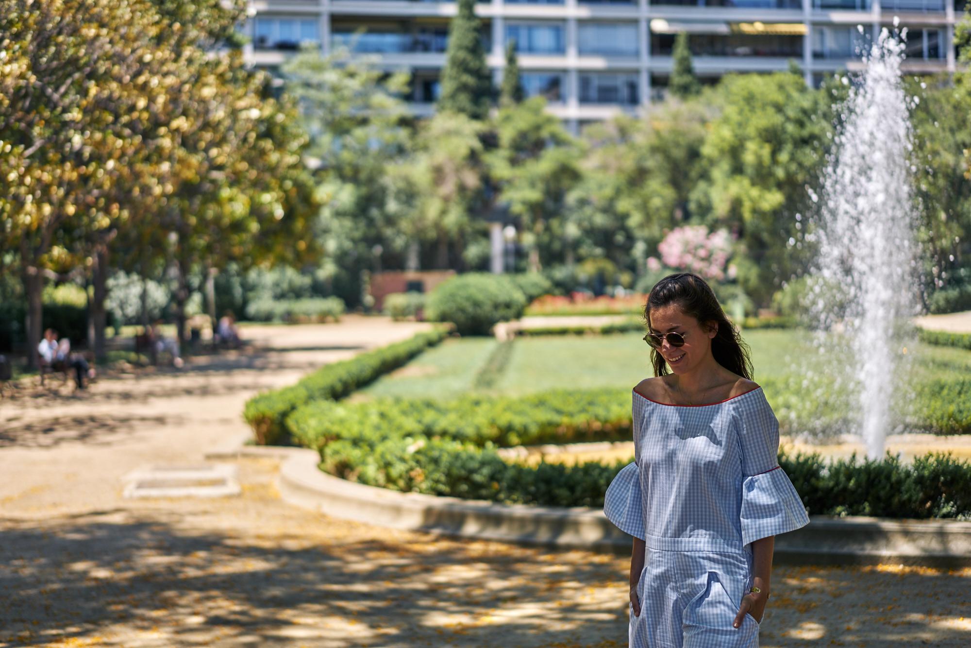 billur saatci, offnegiysem, street style, turkish style blogger, pia brand, pia, jumpsuit, barcelona, turo park,